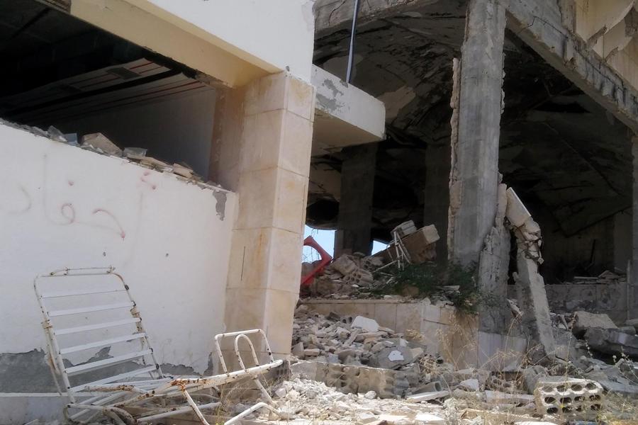 Daños en el Hotel Safir (Foto: Pablo Sapag M.)