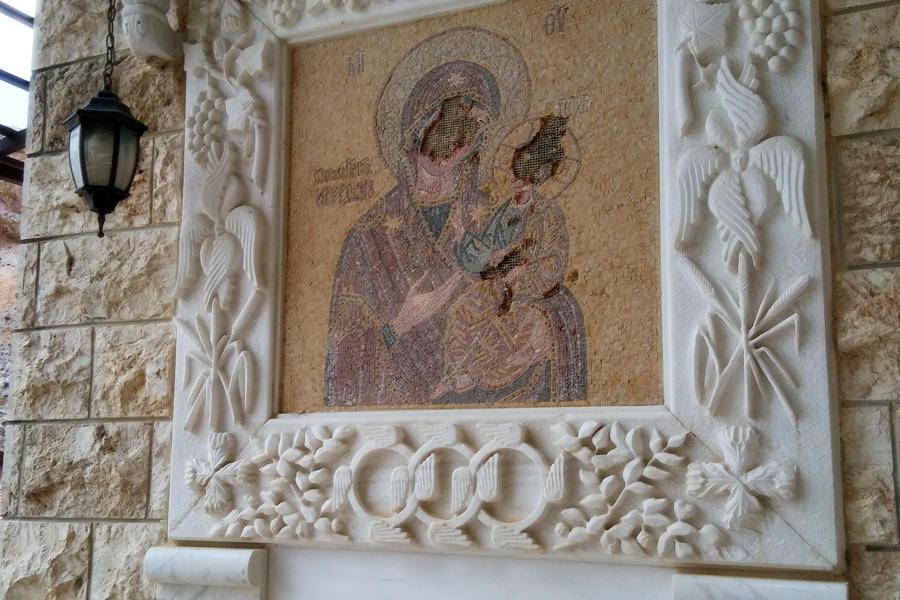 Imagen de la Virgen profanada (Foto: Pablo Sapag M.)
