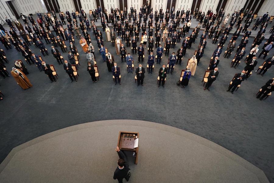 El presidente Bashar Al Asad diserta frente a los nuevos legisladores electos recientemente en los comicios del 19 de julio (Foto: Presidencia Siria)