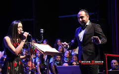 Maestro Iyad Hanna con Faya Younan (Opera House, Damasco | Abril 19, 2018).